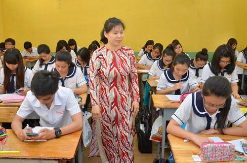 Giờ học của HS lớp 12 Trường THPT Hùng Vương Ảnh: TẤN THẠNH