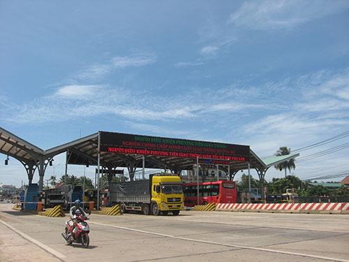 Trạm thu phí dự án đường tránh TP Biên Hòa nằm trên Quốc lộ 1A