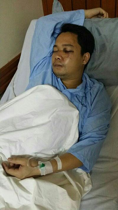Anh Nam đang được điều trị tại bệnh viện