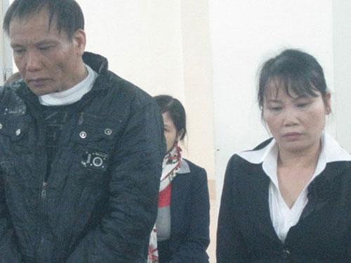 Lê Quang Minh và Nguyễn Thị Lập tại phiên tòa