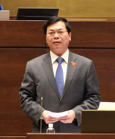 Bộ trưởng Vũ Huy Hoàng trả lời chất vấn vào chiều 17-11 Ảnh: THÁI BÌNH