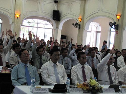 Đại biểu HĐND TP Đà Nẵng đã nhất trí thông qua Nghị quyết phản đối Trung Quốc xâm phạm chủ quyền Việt Nam