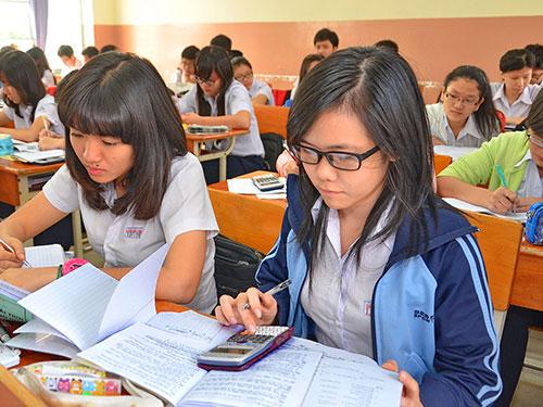 Một tiết học tại Trường THPT Lương Thế Vinh (TP HCM) Ảnh: Tấn Thạnh