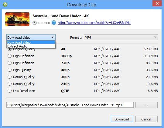 4K Video Downloader – tải video 4K từ YouTube