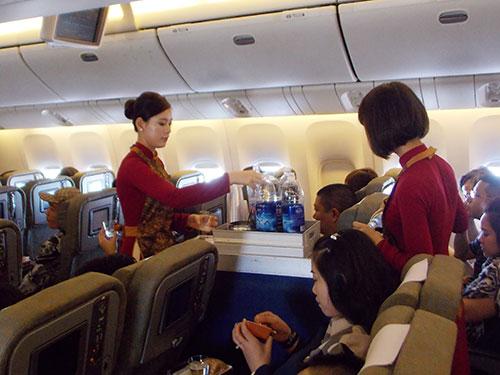 Tiếp viên VNA đã phát hiện nhiều vụ trộm trên các chuyến bay