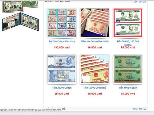 Chỉ cần lên mạng là sẽ dễ dàng tìm được hàng trăm nơi nhận đổi tiền lẻ đủ loại Ảnh: CHÁNH TRUNG