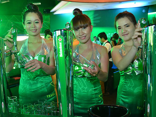 Thị trường bia Việt Nam đang được thống lĩnh bởi những thương hiệu lớn, trong đó có HeneikenẢnh: TẤN THẠNH