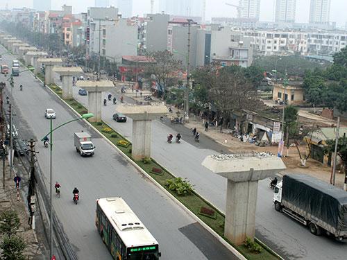 Đường sắt trên không Cát Linh - Hà Đông, một trong những dự án lớn của nước ta mà Trung Quốc thắng thầu Ảnh: THẾ KHA