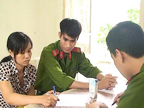 Nguyễn Thị Lý tại cơ quan công an