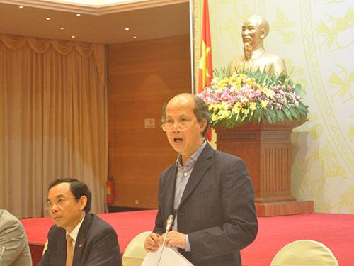 Ông Nguyễn Trần Nam tại buổi họp báo Ảnh: ĐỖ DU