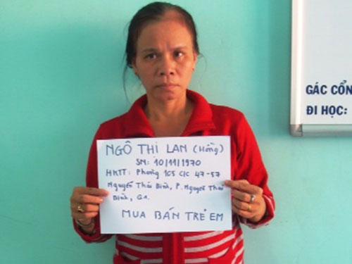 Tưởng Đình Thương và Ngô Thị Lan bị bắt giữ Ảnh do cơ quan công an cung cấp