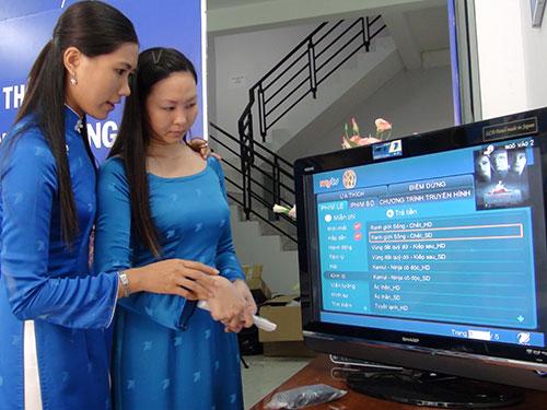 Dù cước truyền hình cáp đang giảm nhưng chất lượng phục vụ của các nhà cung cấp chưa được cải thiện nhiều. Ảnh: Chánh Trung