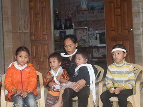 Anh Nguyễn Văn Dương tử vong tại Angola để lại người vợ không nghề nghiệp và những đứa con bơ vơ