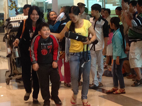Hành khách của chuyến bay Đài Loan - Cần Thơ trong dịp Tết Giáp Ngọ 2014