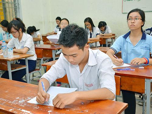 Học sinh thi tốt nghiệp THPT năm 2013 Ảnh: Tấn Thạnh