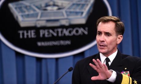 Người phát ngôn Lầu Năm Góc John Kirby nói về chiến dịch không kích al Shabaab ở Somalia. Ảnh: AP