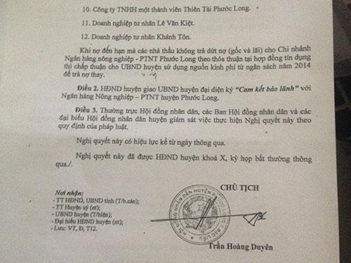 Một phần Nghị quyết số 08 của HĐND huyện Phước Long, tỉnh Bạc Liêu