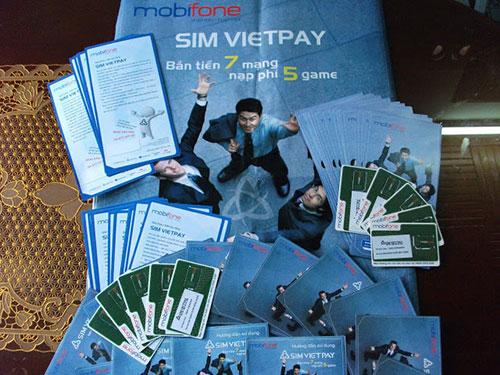 Hình ảnh mẫu sim Vietpay mà trước đây công ty này đã cung cấp cho khách hàng. (Ảnh do bạn đọc cung cấp)