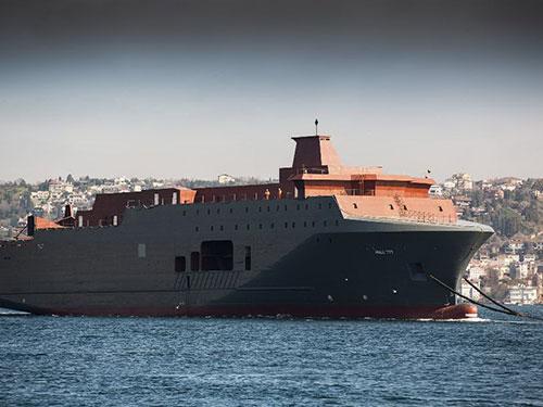 Tàu Marjata của Na Uy được lắp đặt thiết bị do thám siêu nhạy cảm Ảnh: AP