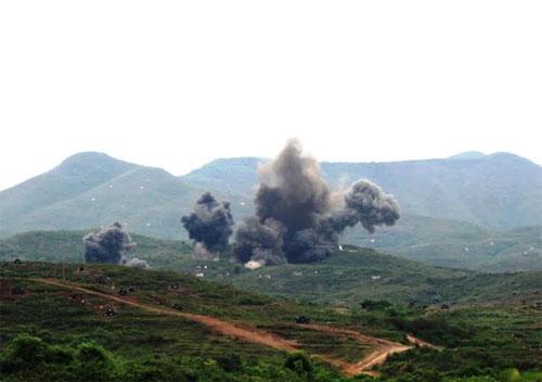 Các mục tiêu bị máy bay tiêu diệt ngay từ loạt bom, đạn đầu.