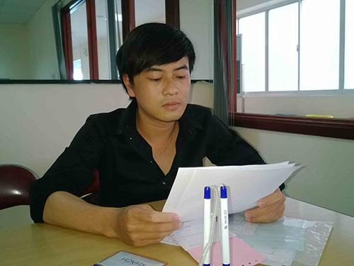 Anh Đỗ Tuấn Khôi trình bày bức xúc với phóng viên