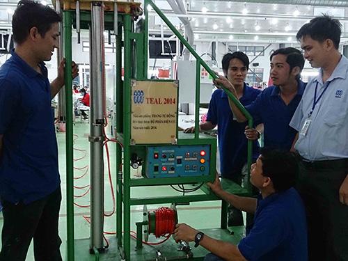 Sự đồng thuận giữa ban giám đốc và Công đoàn giúp quan hệ lao động tại Công ty Triple Việt Nam luôn ổn định Ảnh: KHÁNH AN