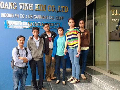 Công ty Hoàng Vĩnh Kim (quận 12, TP HCM) bị kiện ra tòa vì cho 6 nhân viên nghỉ việc tùy tiện