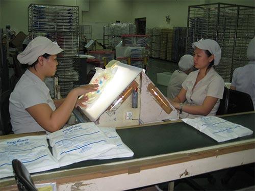 Công nhân Công ty Nikkiso (KCX Tân Thuận, quận 7, TP HCM) luôn an tâm làm việc vì được bảo đảm quyền lợi