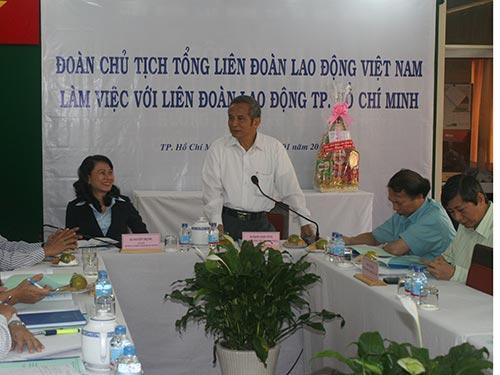 Ông Đặng Ngọc Tùng phát biểu chỉ đạo tại buổi làm việc