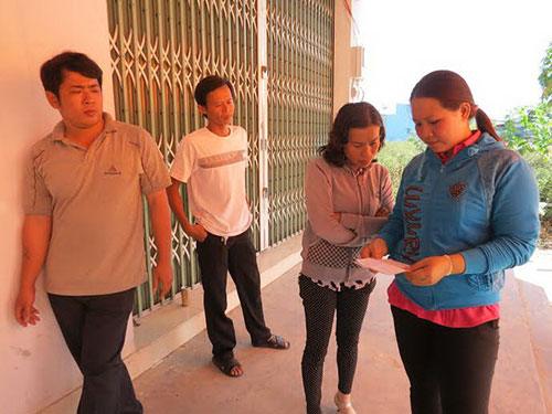 Công nhân Công ty Lê Hoàng thất thần khi hay tin chủ doanh nghiệp bỏ trốn