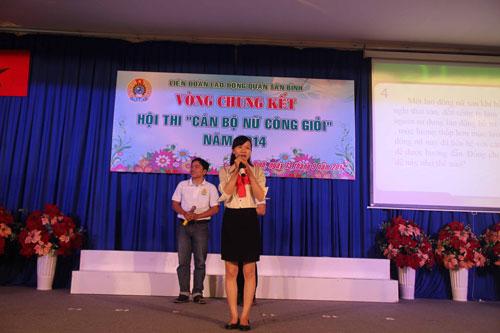 Cán bộ nữ công tranh tài tại hội thi do LĐLĐ quận Tân Bình, TP HCM tổ chức