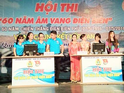 """Các đội tham gia dự thi """"60 năm âm vang Điện Biên Phủ"""""""