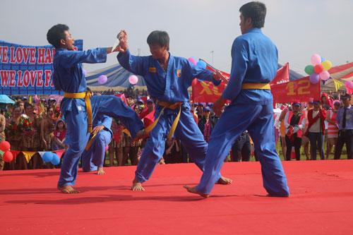 Một tiết mục trình diễn võ thuật tại Ngày hội Hansae Việt Nam lần VIII