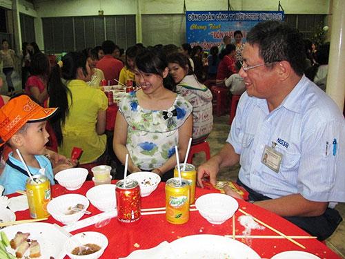 Công nhân Công ty Nissei Việt Nam (KCX Linh Trung 1, TP HCM) an tâm cống hiến khi lãnh đạo quan tâm, đánh giá công bằng