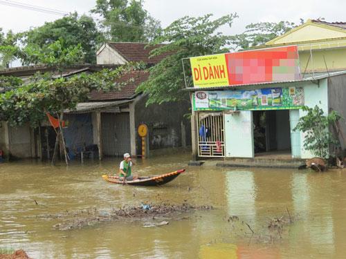 Huyện Quảng Điền bị ngập trong những ngày qua