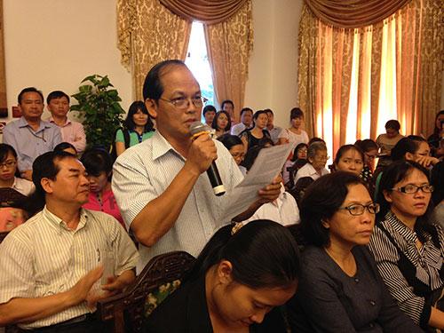 Ông Nguyễn Thái Linh phản ánh việc phiền hà từ 20.000 đồng lệ phí
