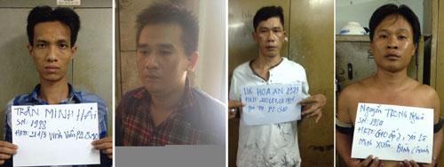 Một số đối tượng trong băng bắt cóc, cưỡng đoạt tài sản