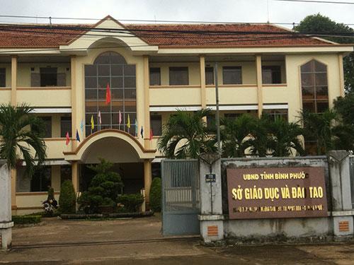 Sở GD-ĐT tỉnh Bình Phước, nơi có hàng chục cán bộ dù không đạt chuẩn về trình độ lý luận chính trị nhưng vẫn giữ chức vụ lãnh đạo