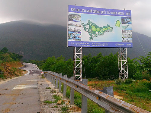 Dự án khu du lịch nghỉ dưỡng trên núi Hải Vân đã bị dừng Ảnh: QUANG NHẬT