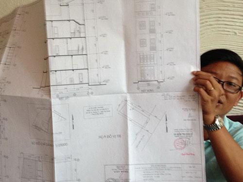 Để hoàn tất bản vẽ sơ đồ hiện trạng, ông Phạm Ngọc Phúc phải mất 10 tháng