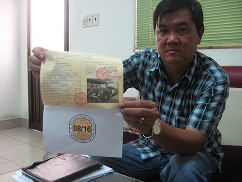 Ông Nguyễn Văn Lâm - Phó Tổng Giám đốc Công ty TNHH Ô tô Quốc Tuấn, phụ trách Trung tâm Đăng kiểm 6040D tại Đồng Nai - cho biết hồ sơ đăng kiểm có thể được làm giả rất tinh vi