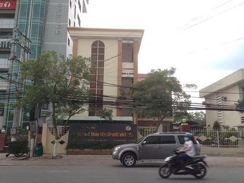 Trụ sở Công ty TNHH MTV Cấp nước nông thôn tỉnh Tiền Giang