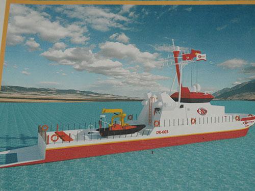 Phác thảo tàu đánh cá của Công ty CP Đức Khải