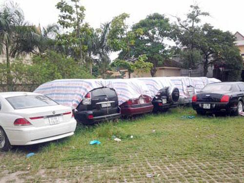 Xe biển số nước ngoài bị Công an tỉnh Phú Thọ thu giữ và bán đấu giá năm 2013 Ảnh: ĐÌNH VŨ