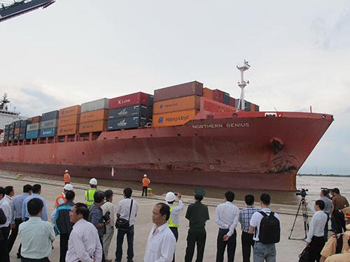 Tàu container Northern Genius tải trọng 54.020 DWT vào cảng SPCT trong tháng 5-2014