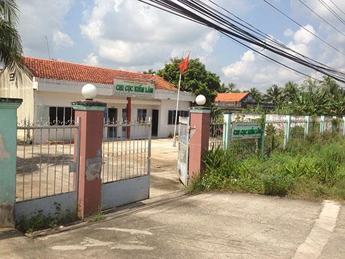 Trụ sở của Chi cục Kiểm lâm tỉnh Tiền Giang