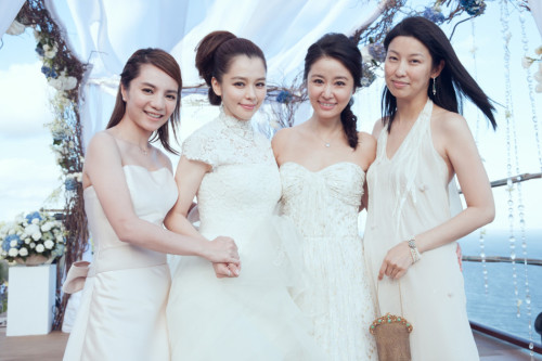 Lâm Tâm Như rạng rỡ trong đám cưới Từ Nhược Tuyên