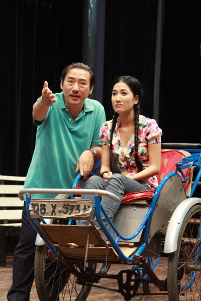 Thành Hội và Quỳnh Lam trong vở Tình duyên thuở trước
