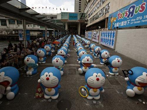 Cuộc triển lãm chủ đề Doraemon tại Trung Quốc khiến truyền thông nước này bức xúc Nguồn: Reuters
