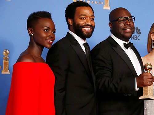 Dàn đạo diễn, diễn viên da đen của 12 Years A Slave liệu có được vinh danh tại Oscar 2014? Ảnh: Reuters